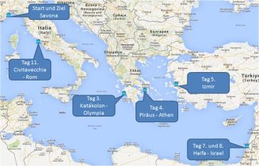 mein-kreuzfahrtwetter-costa-route-savona-katakolon-athen-izmir-haifa-civitavecchia-savona-mini