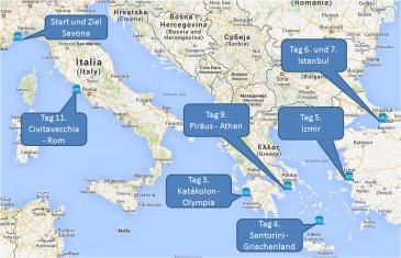 mein-kreuzfahrtwetter-costa-route-savona-katakolon-santorini-izmir-istanbul-athen-civitavecchia-savona-mini