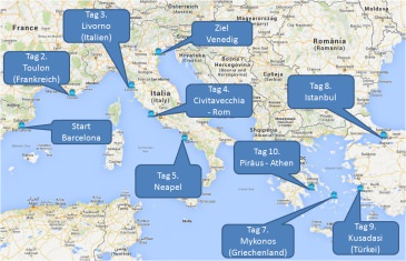 mein-kreuzfahrtwetter-ncl-route-barcelona-toulon-livorno-civitavecchia-neapel-mykonos-istanbul-kusadasi-athen-venedig-mini