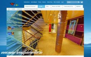 Virtueller 360 Grad Rundgang auf dem Kreuzfahrtschiff