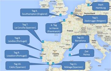 mein-kreuzfahrtwetter-tui-cruises-route-hamburg-zeebrugge-lehavre-southampton-lacoruna-leixoes-lissabon-cadiz-malaga-barcelona-palma