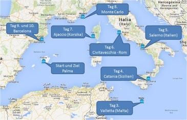 mein-kreuzfahrtwetter-tui-cruises-route-palma-valletta-salerno-civitavecchia-ajaccio-montecarlo-barcelona-catania-palma