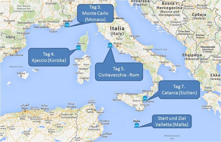 mein-kreuzfahrtwetter-tui-cruises-route-valletta-montecarlo-ajaccio-civitavecchia-catania-valletta