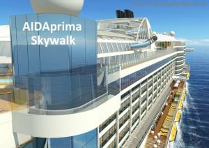Kreuzfahrtschiff AIDAprima Skywalk