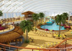 Kreuzfahrtschiff AIDAprima Beach Club